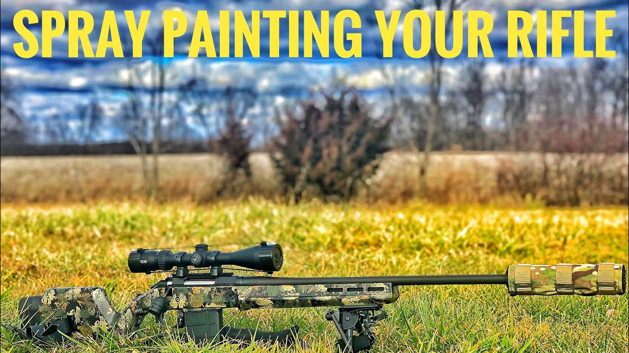 Spray Paint Rifle Camo | How to Paint Your Rifle