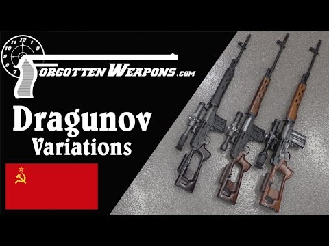 Dragunov Variations: Military SVD, Izhmash Tiger, Chinese NDM-86