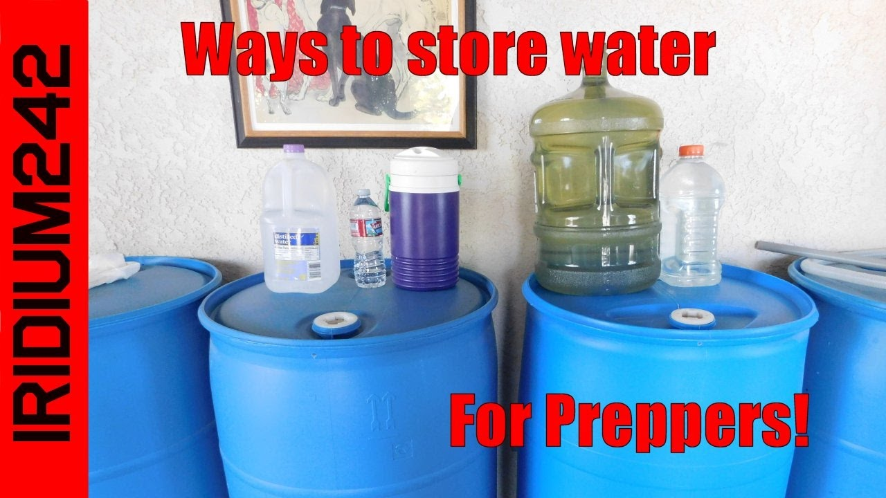 Basic Water Storage For Preppers!