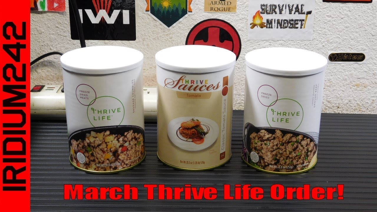 March Thrive Life Order!