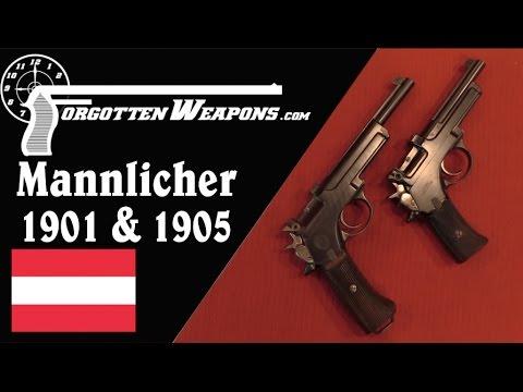 Mannlicher Model 1901 & 1905 Pistols