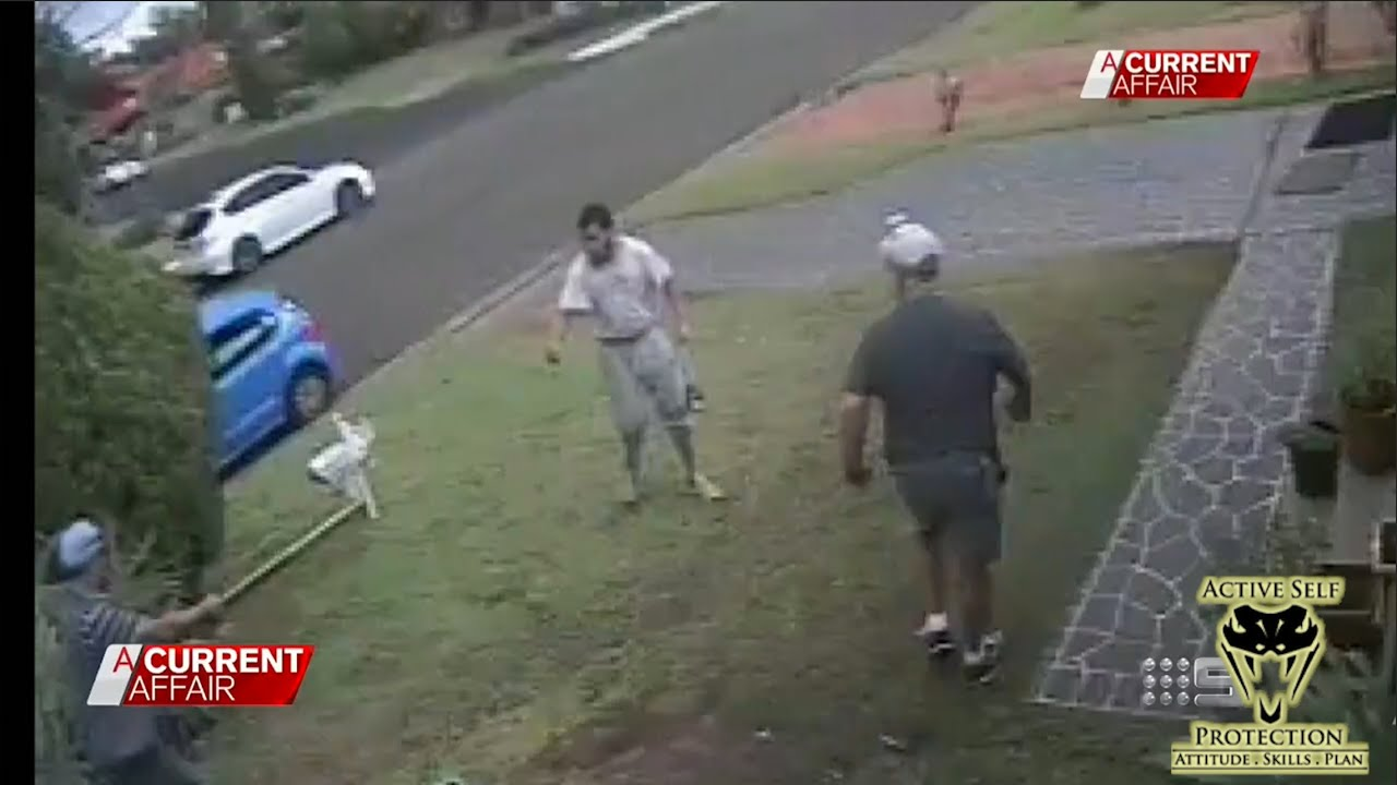 Scary Knife Attack in Australia Caught on Video | Active Self Protection