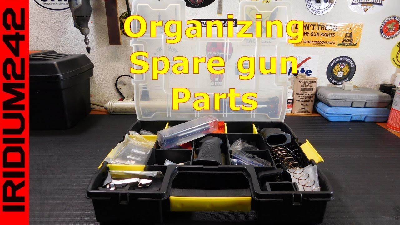 Organizing Spare Gun Parts