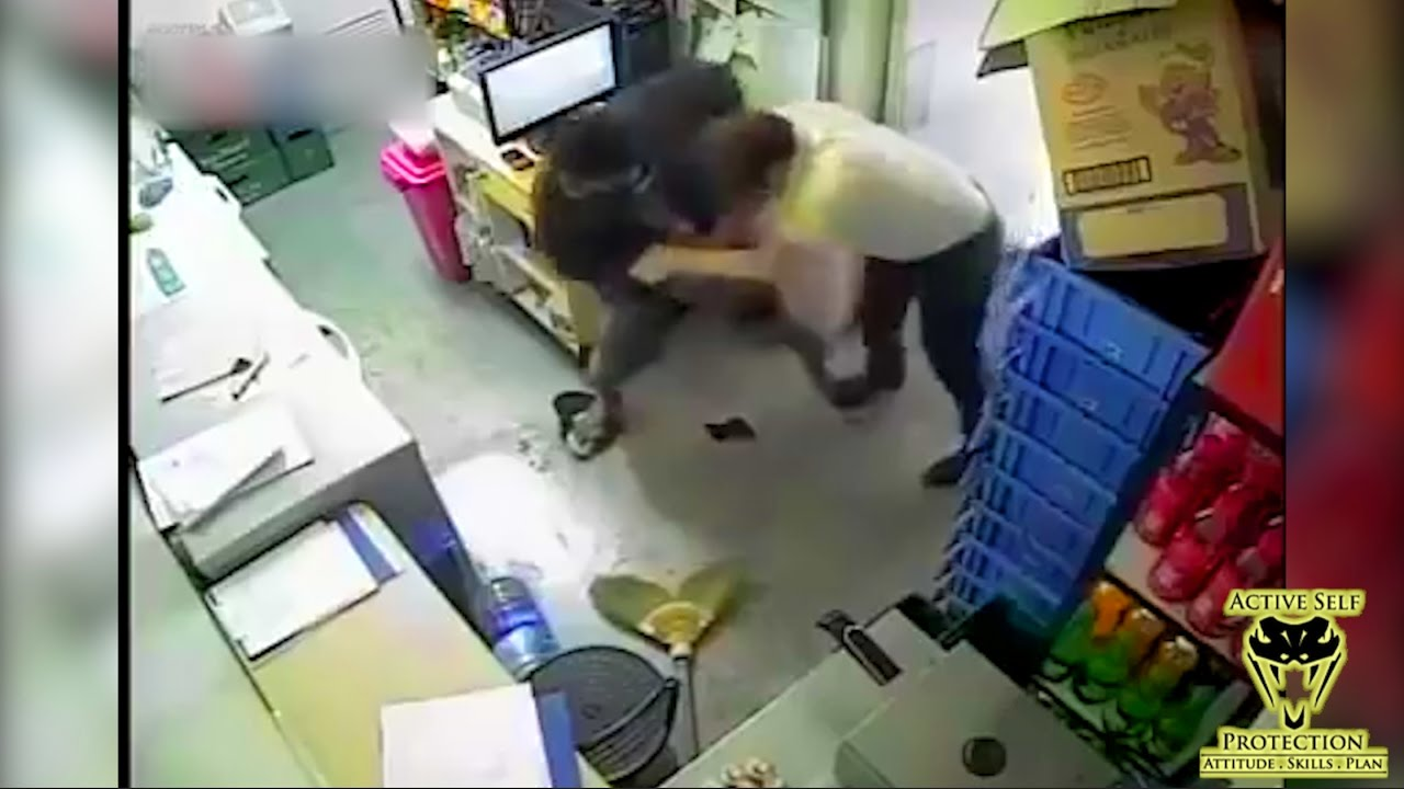 Victim Fights for His Life Against Determined Attacker | Active Self Protection