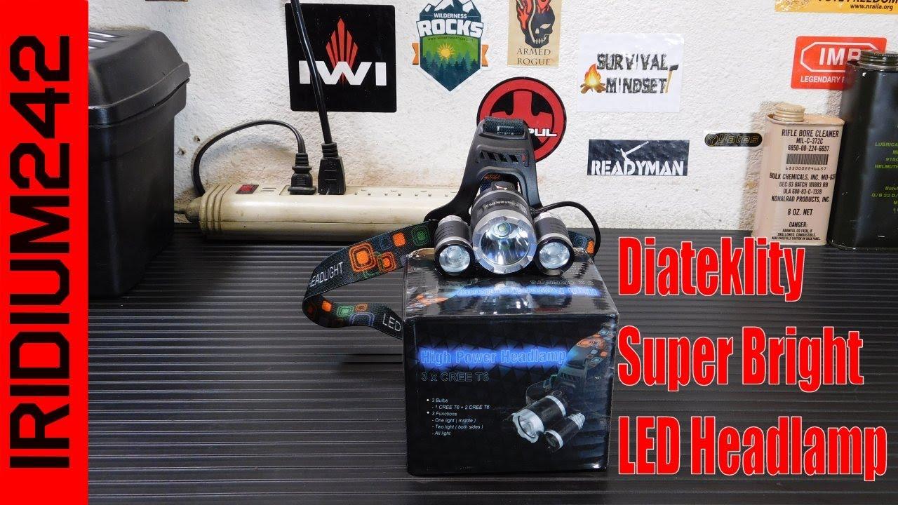 Diateklity 1000 Lumen Headlamp