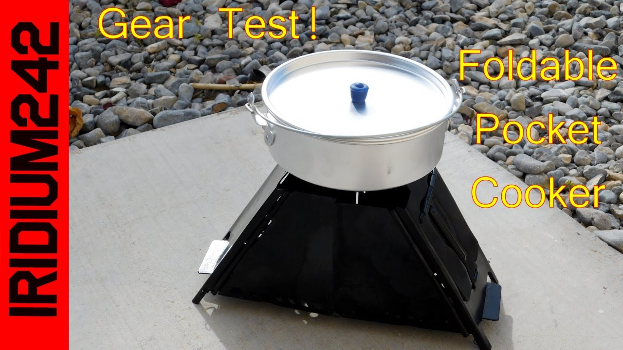 Foldable Pocket Cooker Wood Stove Test