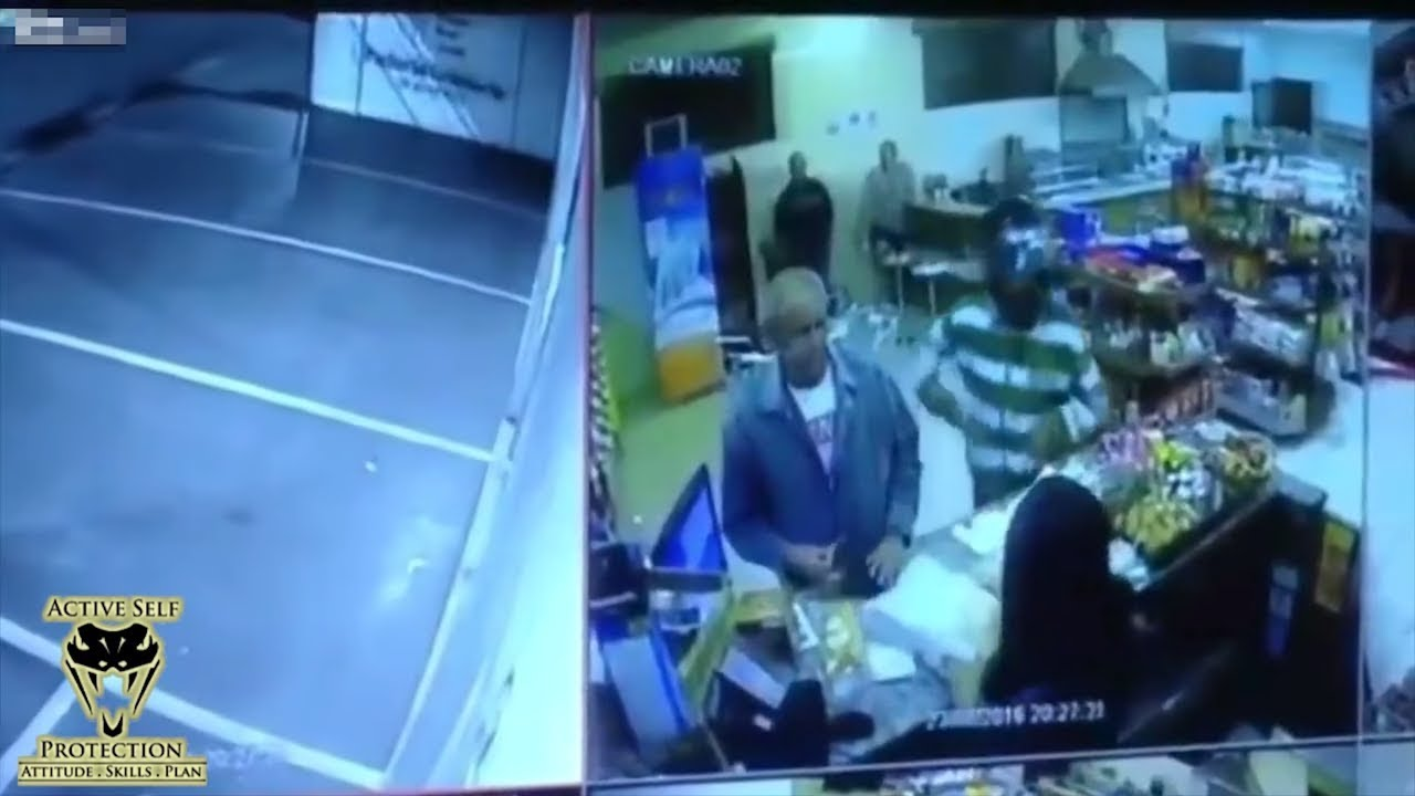 Convenience Store Robber Takes the Room Temperature Challenge | Active Self Protection
