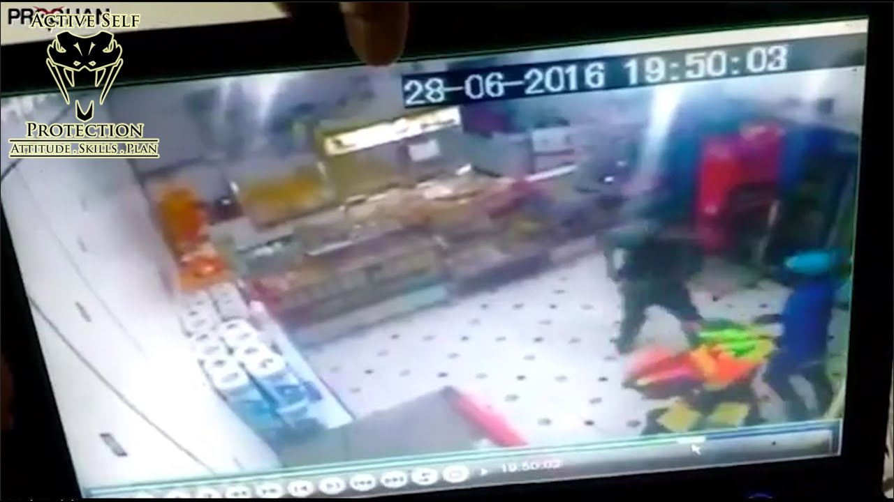 Armed Robbery Victim Stops the Threat