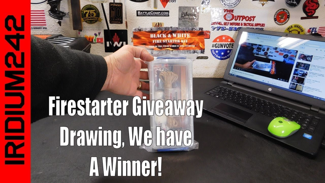 Black And White Fire Starter Giveaway Drawing