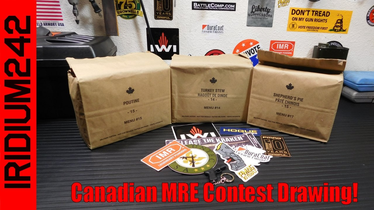 Canadian MRE/IMP Contest Drawing.. We Have a Winner!