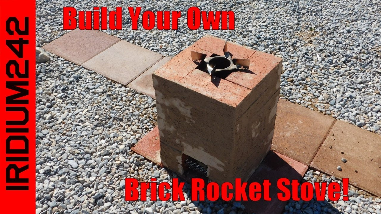 Build Your Own Brick Rocket Stove
