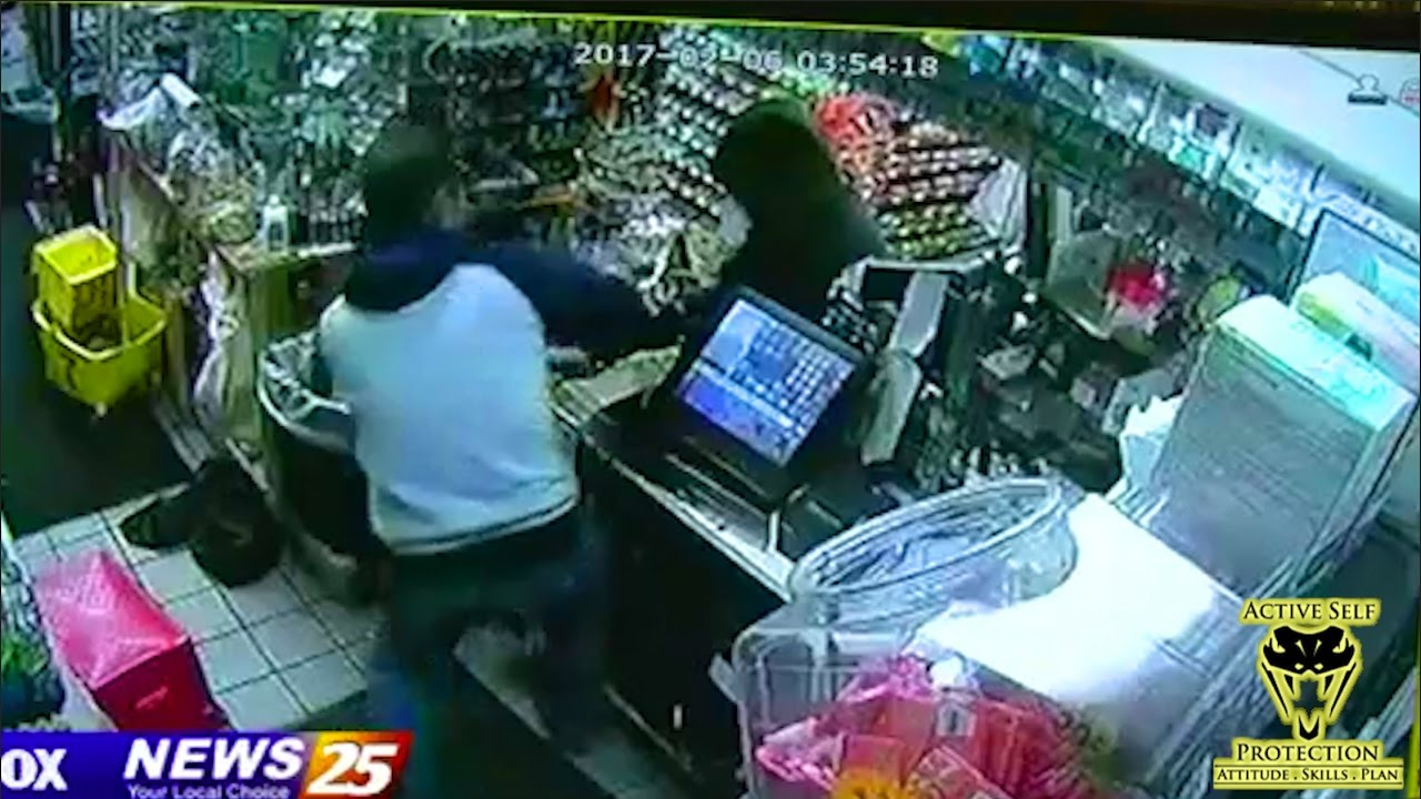 Stupid Armed Robber Outsmarted by Alert Clerk | Active Self Protection