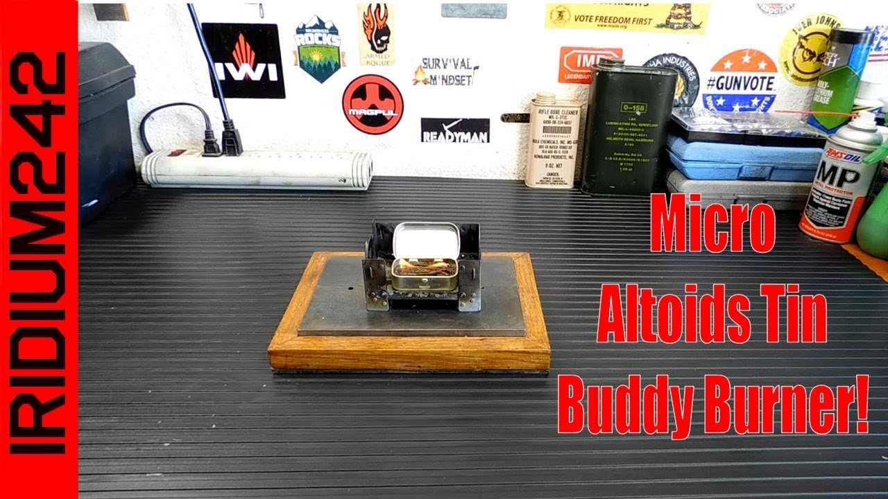 Micro Altoids Tin Stove: Buddy Burner