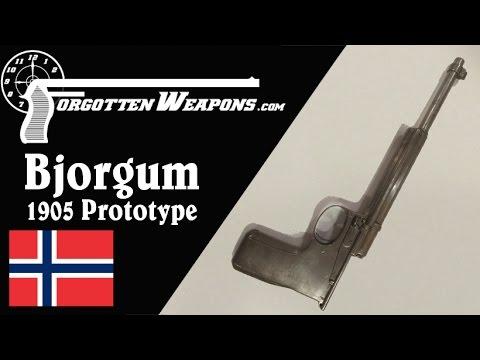 Bjorgum 1905 Norwegian Prototype Pistol