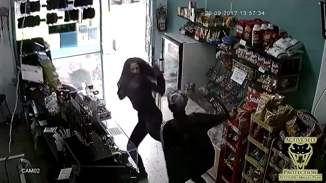 Clerk Uses Empty-Handed Skills to Thwart Robber | Active Self Protection