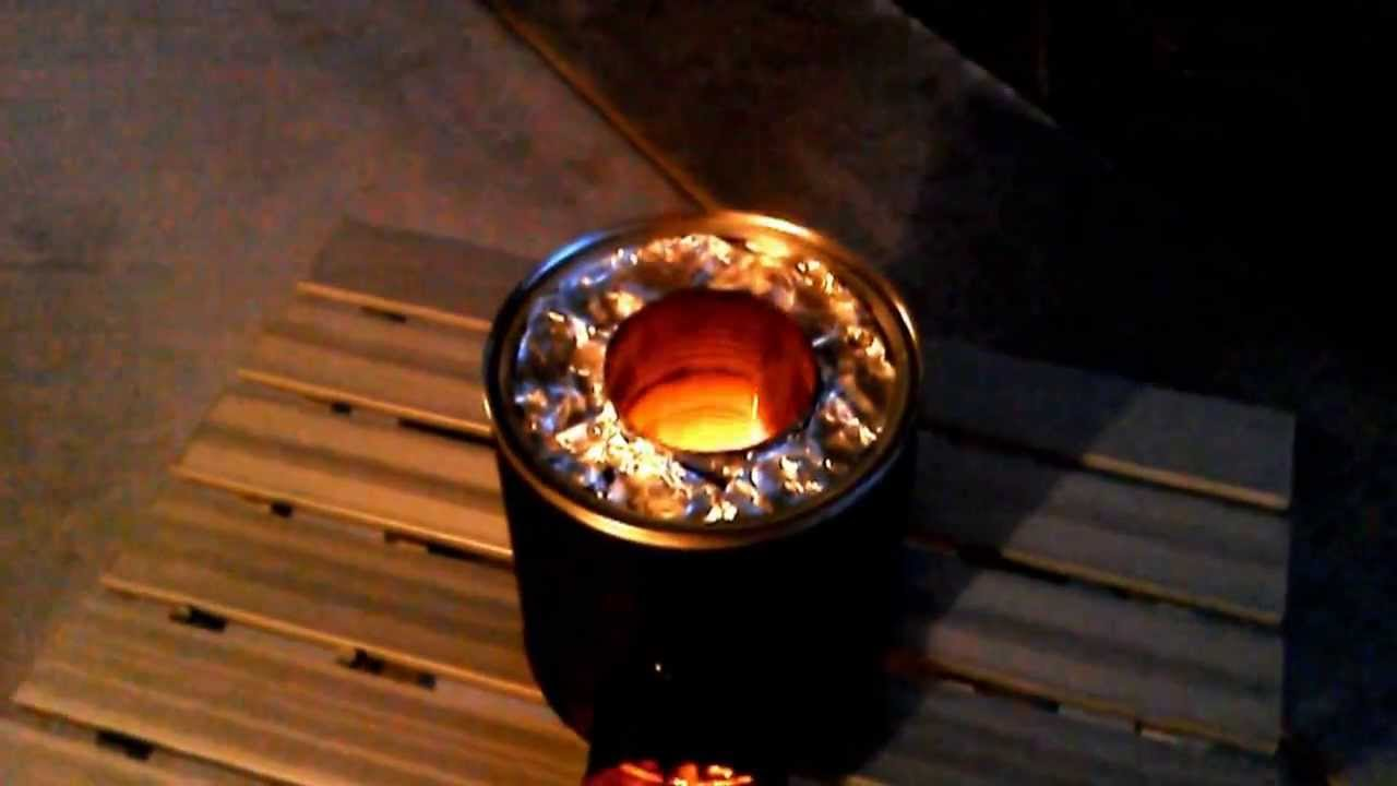 My first rocket stove