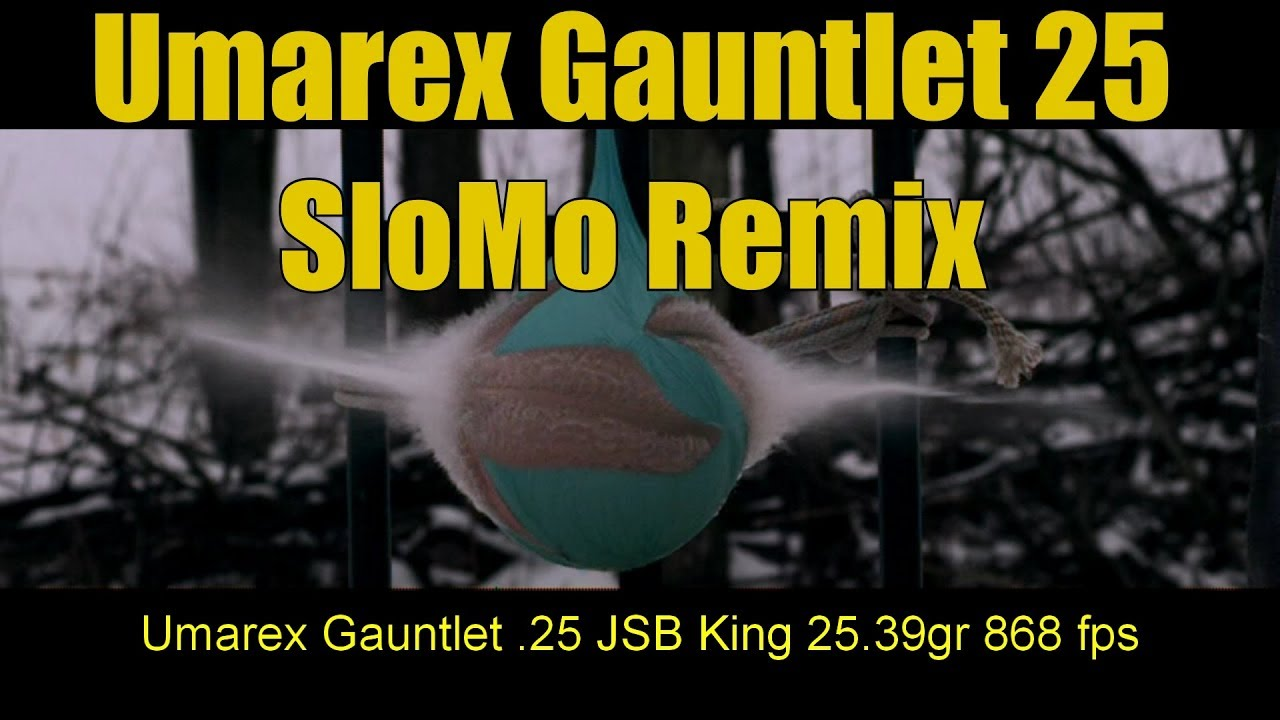 Umarex Gauntlet 25 Pellet Rifle Not Your Daddys BB Gun High Speed Slo Mo Remix