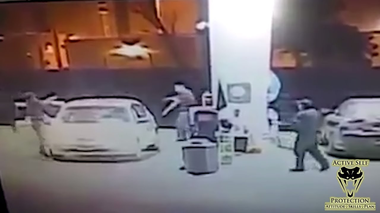 Counter-Ambush Ends Gas Station Robbery | Active Self Protection