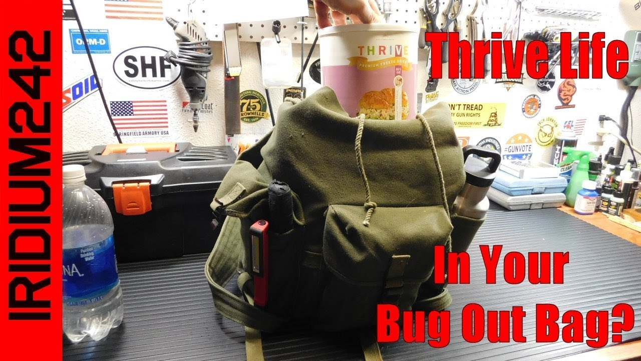 Thrive Life In Your Bug Out Bag?