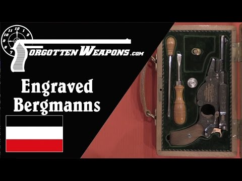Magnificent Engraved Bergmann Pistols