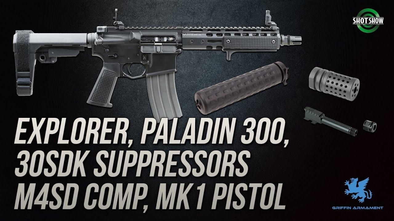 Griffin Armament Suppressors, MK1 Pistol, Glock Barrels - SHOT Show 2019