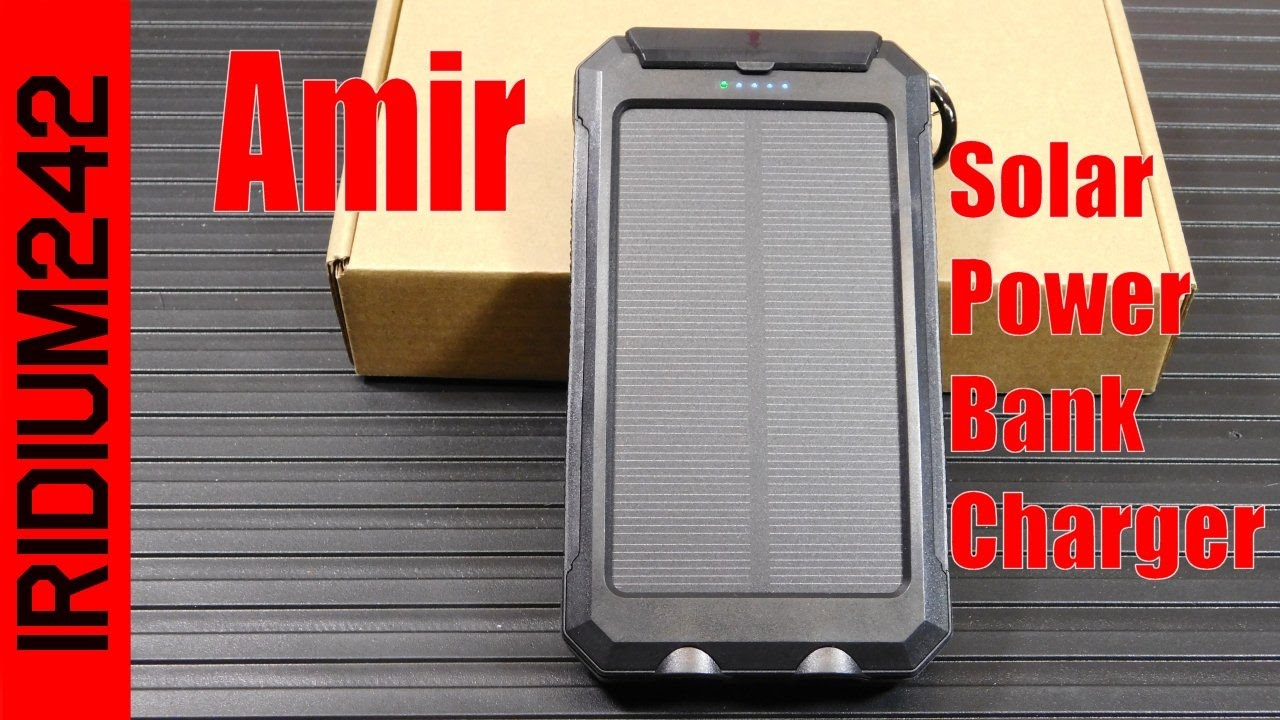 Amir Solar Power Bank Phone Charger!