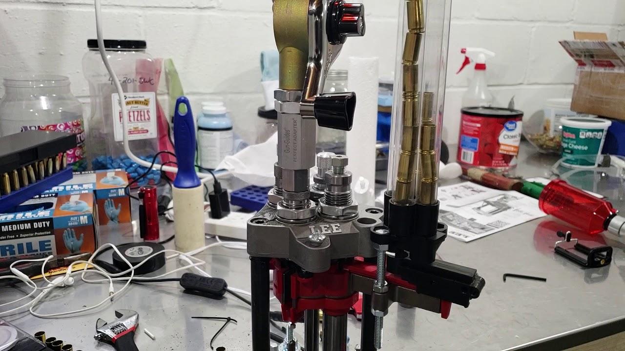 Putting a manual powder measure on a Lee powder through die