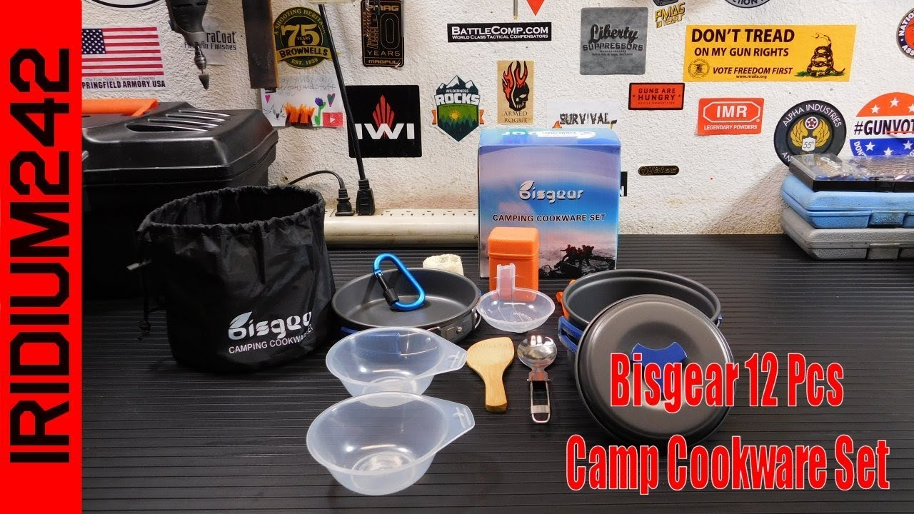 Bisgear 12 Pcs Camp Cookware Set: Everything You Need!