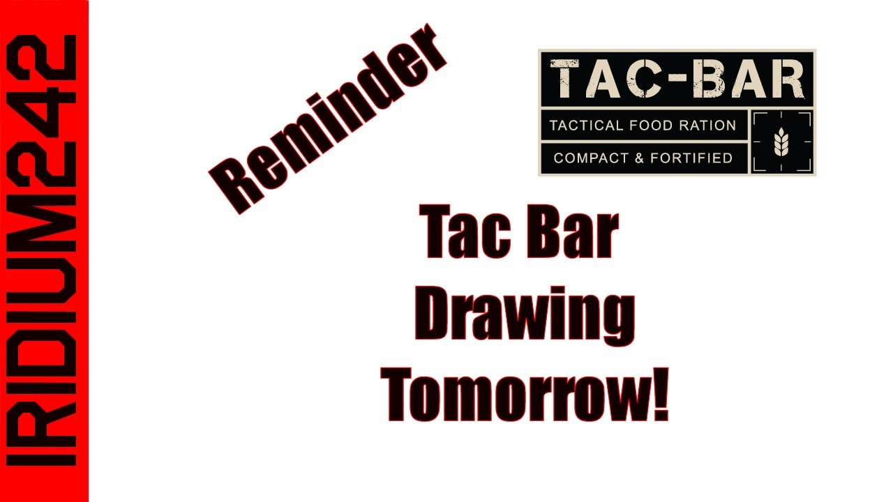 Last Chance To Get in On The Tac-Bar Giveaway!