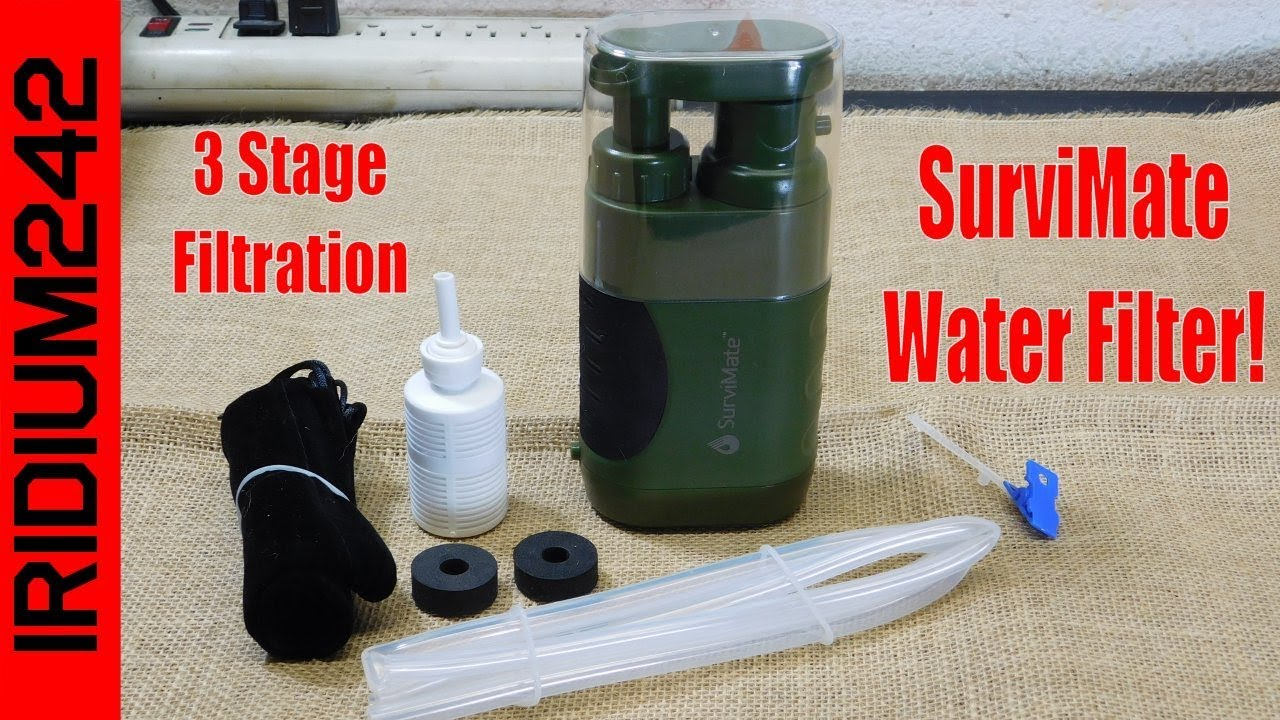 SurviMate Water Filter: Three Stage Water Filtration!
