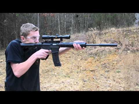 Regulator rimfire suppressor on the range...