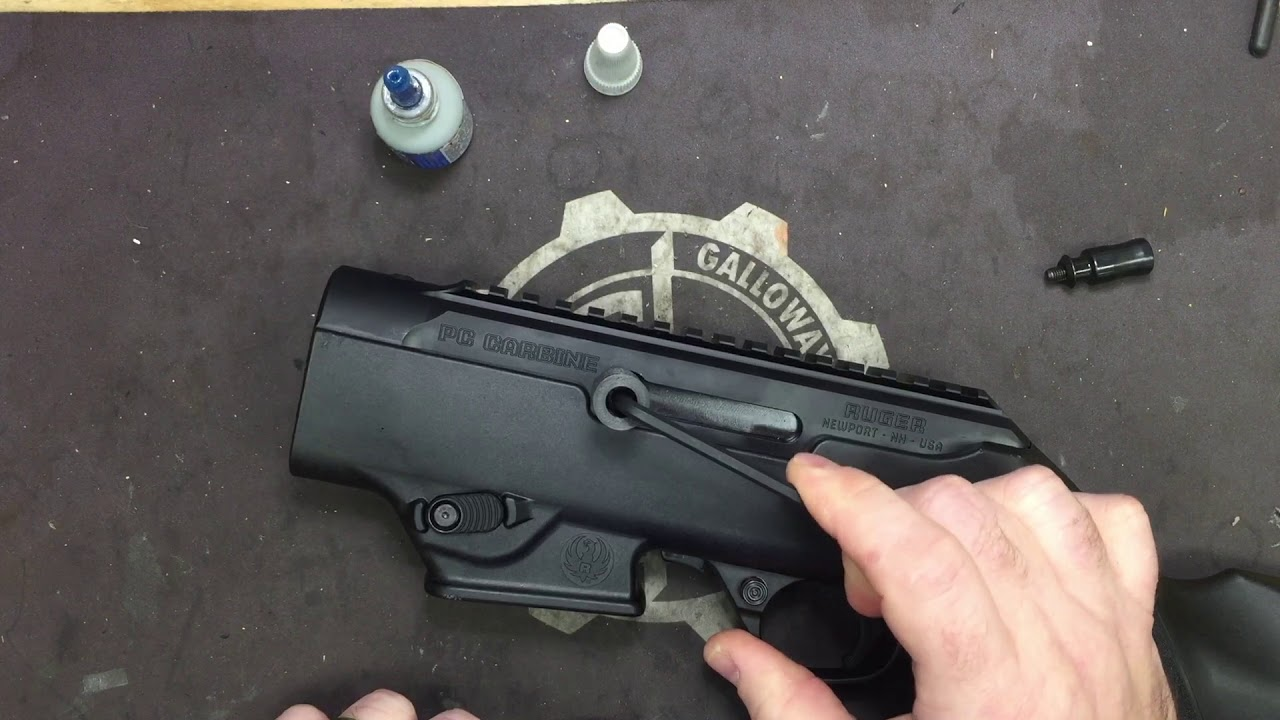 PC Carbine Extended Charging Handle Installation.