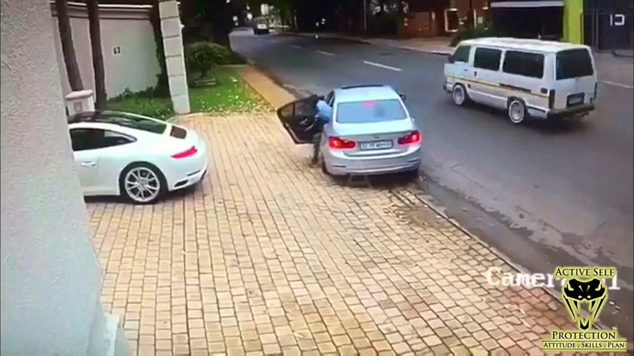 Carjacking Victim Sacrifices his Porsche to Escape | Active Self Protection