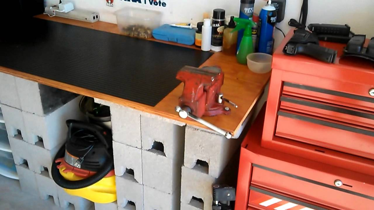 The Garage Workbench for preps and guns