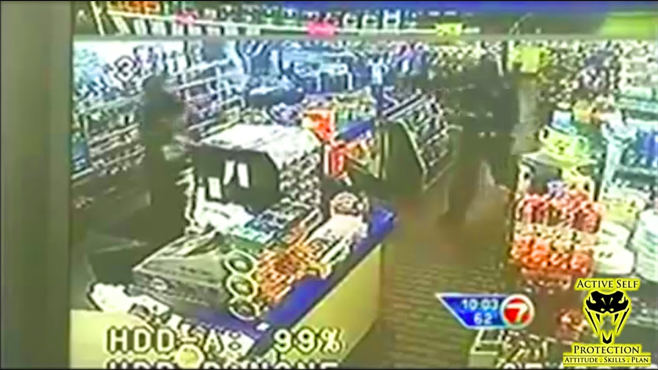 Alert Clerk Puts Armed Robber Down Hard | Active Self Protection