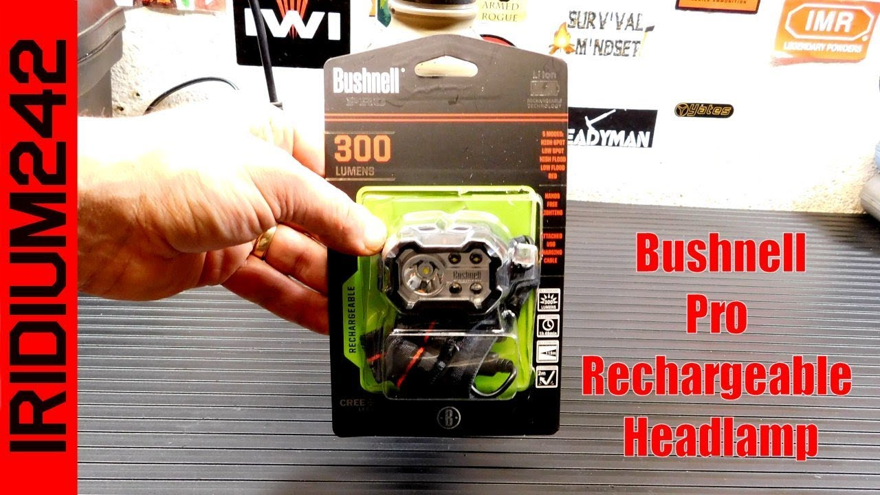Bushnell Pro 300 Lumen Rechargeable Headlamp