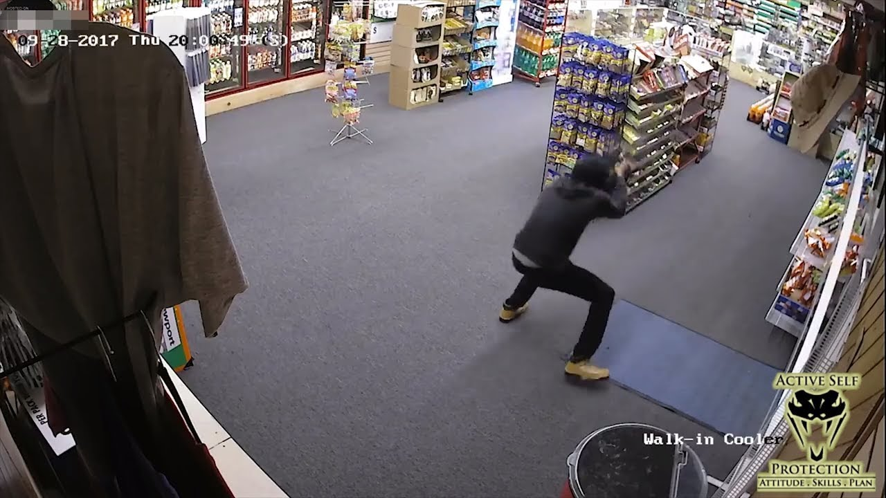 Robber Wasn't Expecting Employee to Have the Drop on Him | Active Self Protection