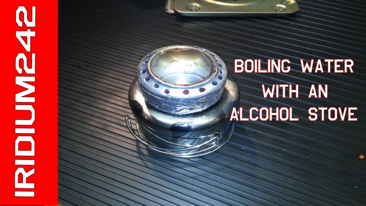 Using a homemade alcohol stove to boil water