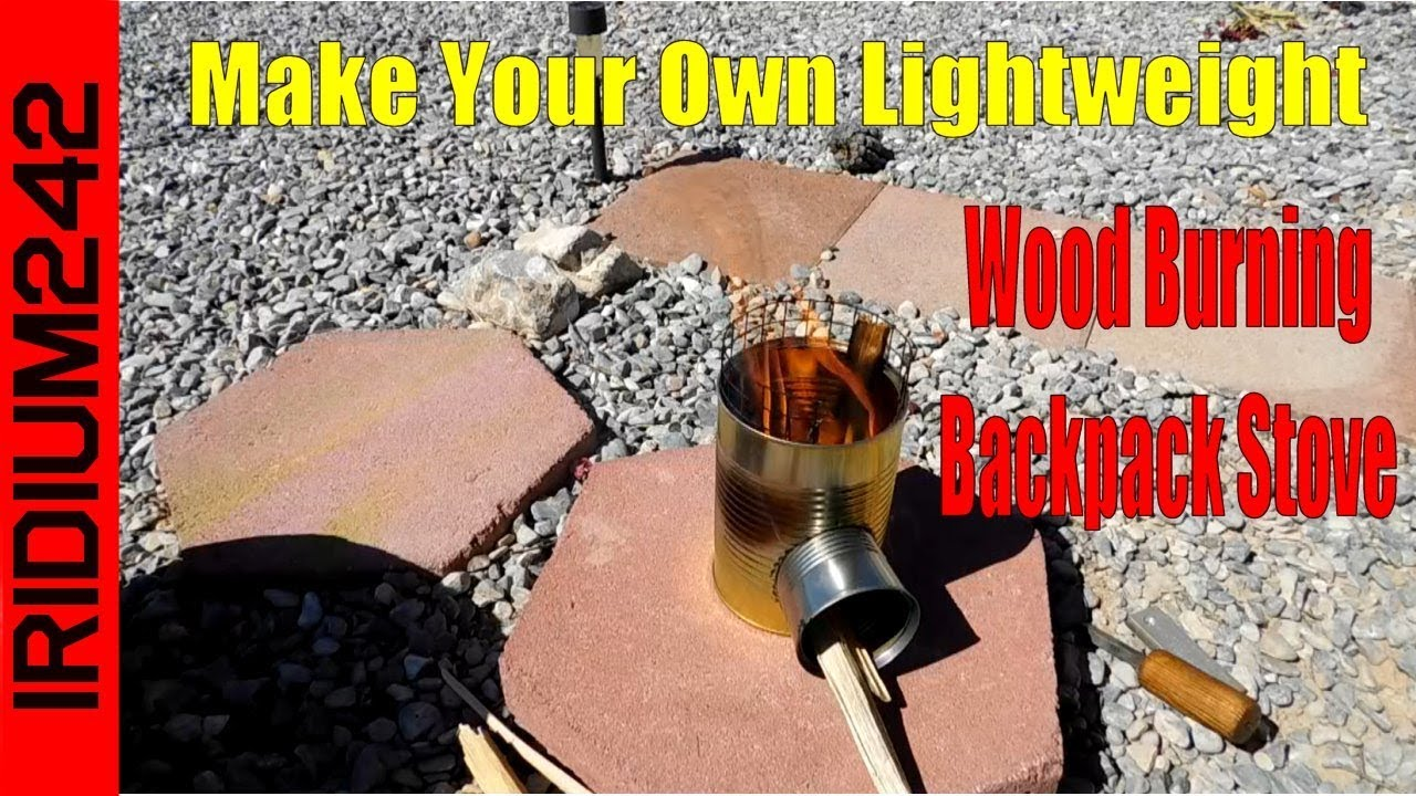 Make Your Own Lightweight Wood Burning Backpack Stove!