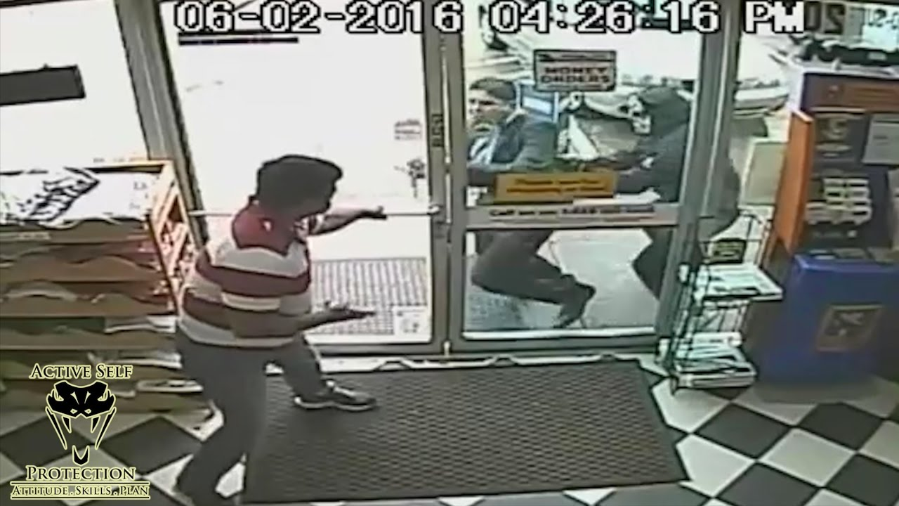 Bystander Won't Let Armed Robbery Victim Inside | Active Self Protection