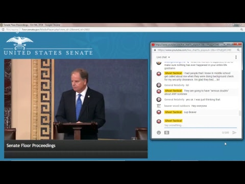 Kavanaugh Hearing LIVE from the US Senate Floor