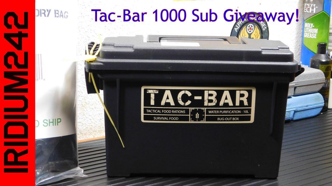 Tac Bar 1000 Sub Giveaway CLOSED