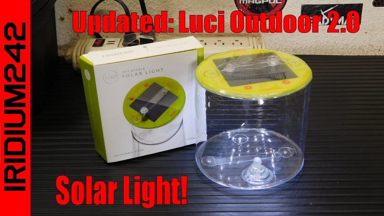 MPOWERD Luci Solar Light Updated: Luci Outdoor 2 0