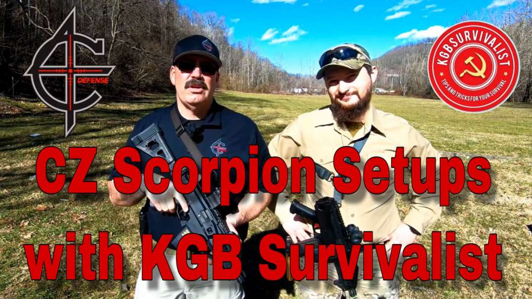 CZ Scorpion EVO Setups and SHOT Show Swag Pack GIVEAWAY with KGB Survivalist