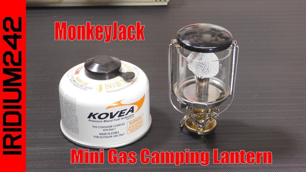 MonkeyJack Mini Gas Camping Lantern
