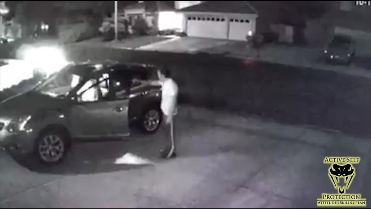 Carjacking in Driveway Caught on Camera