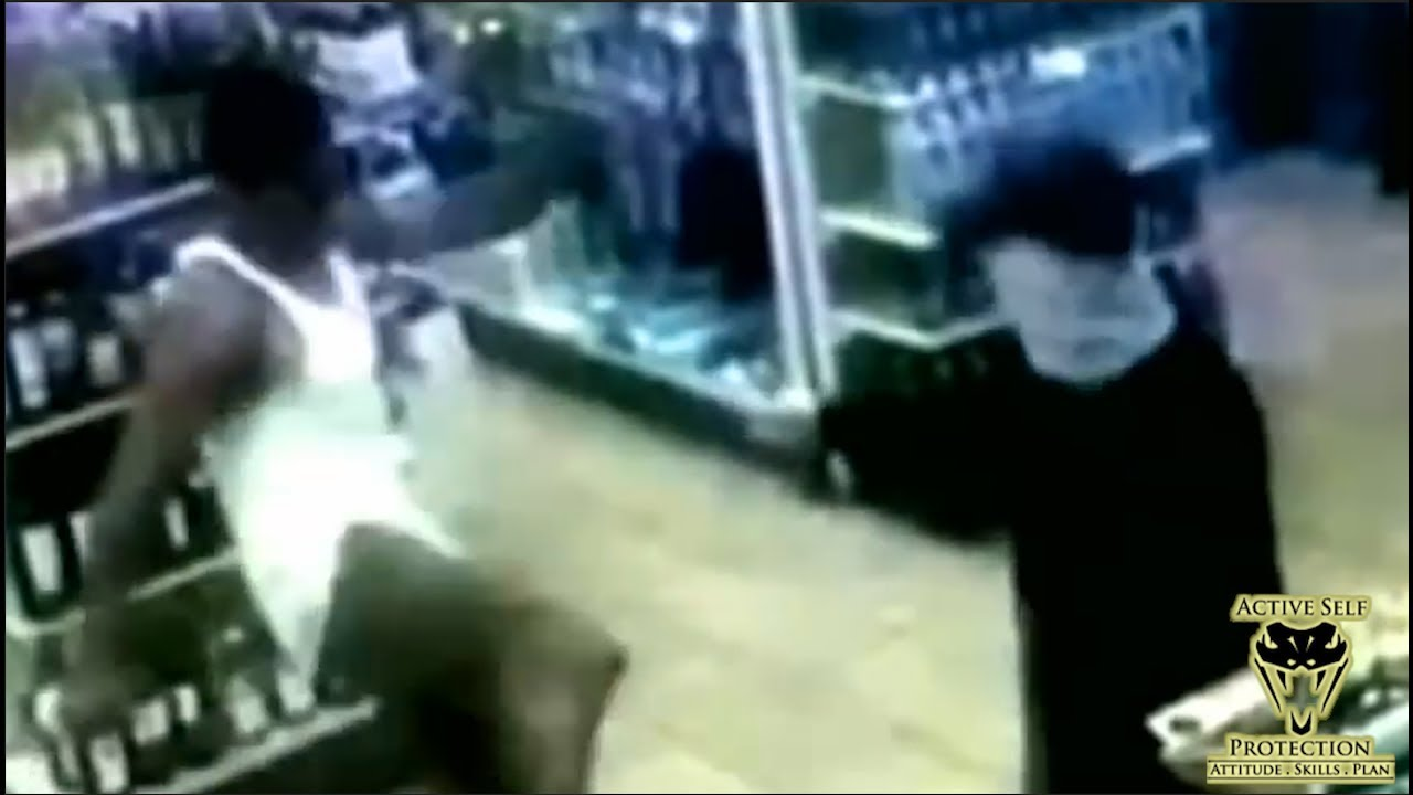 Bystander Does Chuck Norris Impression on Armed Robber | Active Self Protection
