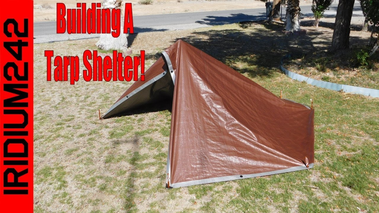 Building A Tarp Shelter: My First One!