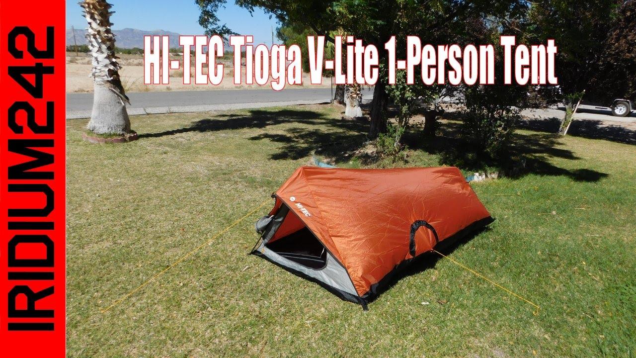 HI TEC Tioga V Lite 1 Person Tent Review And Set Up!