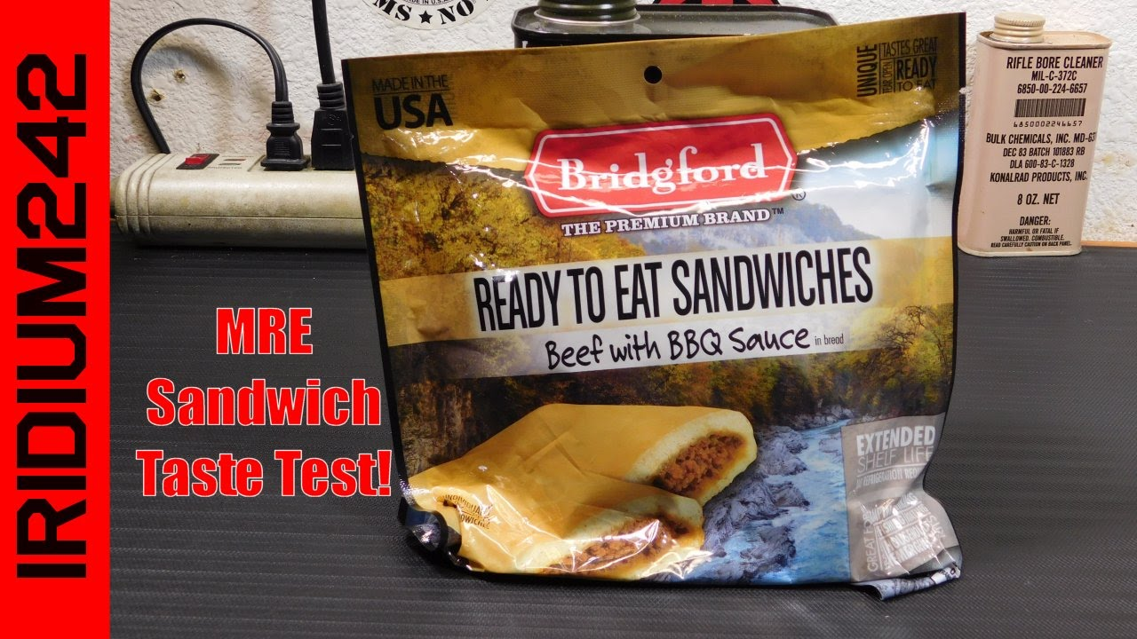 Bridgford MRE Sandwich Taste Test And Review!